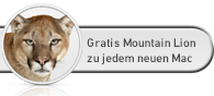 Mac OS X Mountain Lion kostenfrei zu jeden neuen Mac